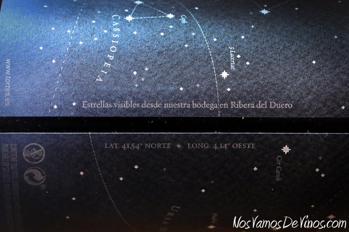 Celeste Crianza 2017 Etiqueta Constelación