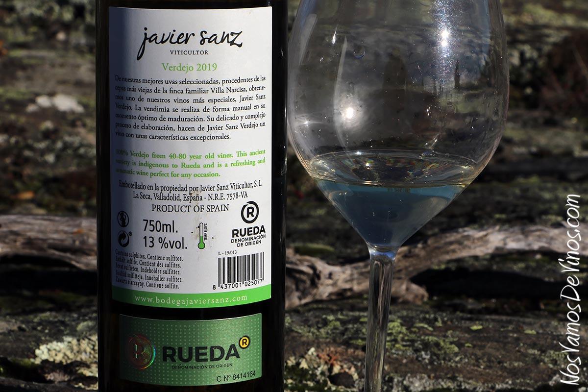 Javier Sanz Viticultor Verdejo 2019 Trasera