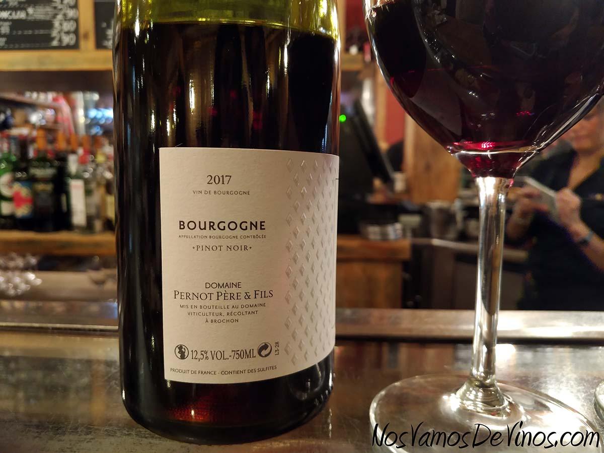 Pernot Père & Fils Bourgogne Pinot Noir 2017 Etiqueta lateral