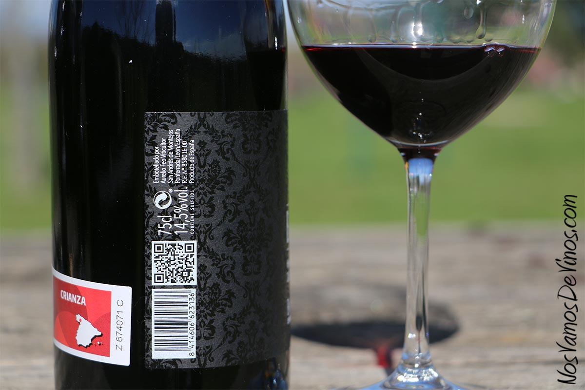 Buencomiezo 2016, detalle de la etiqueta