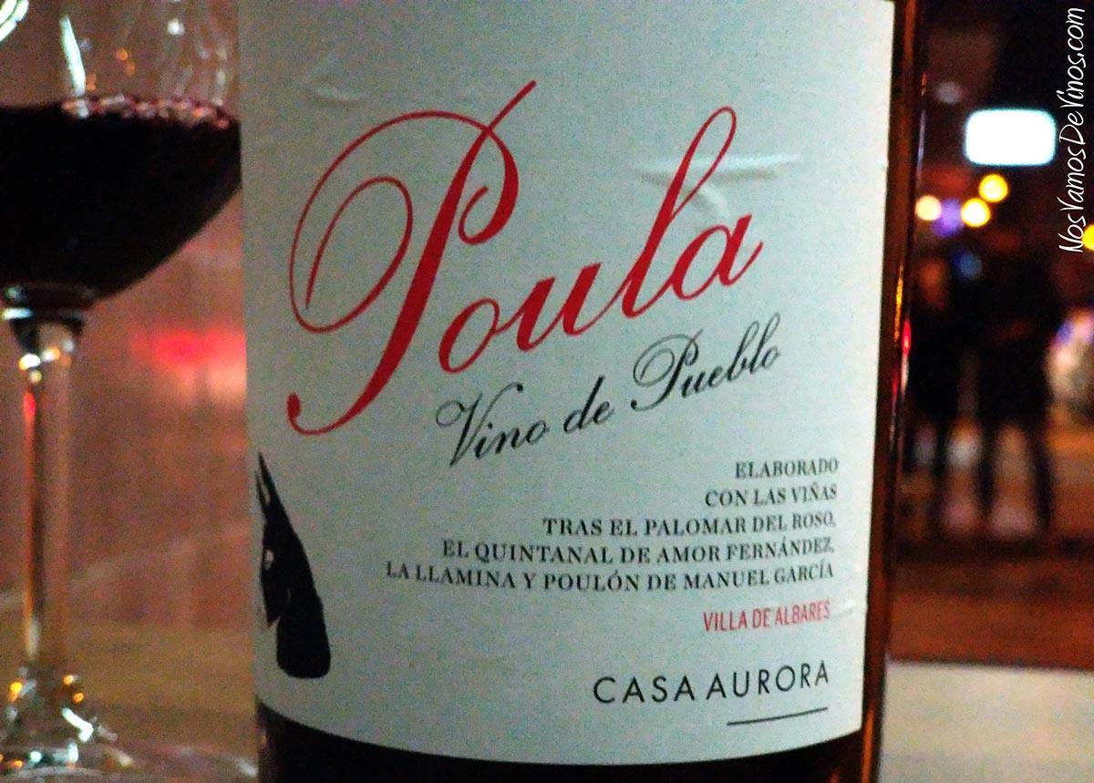 Poula Vino de Pueblo 2015 Detalle Etiqueta