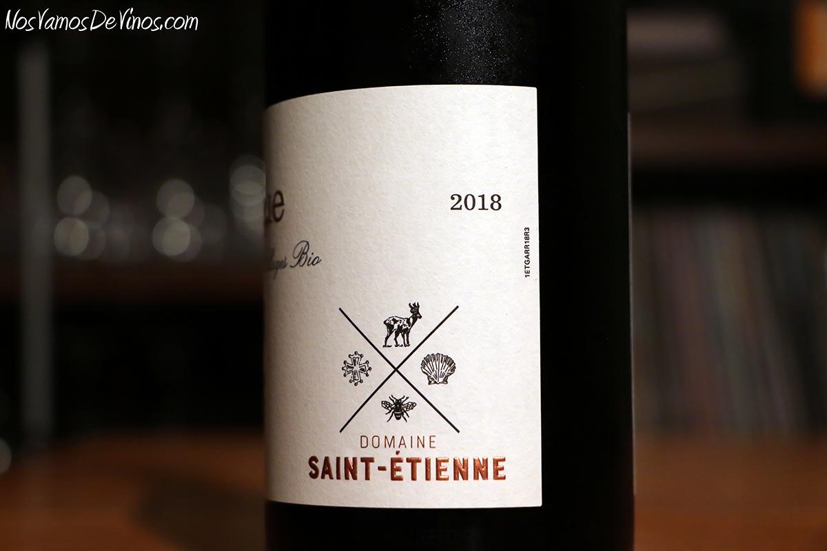 Côtes-Du-Rhône Villages La Garrigue 2018 Detalle etiqueta