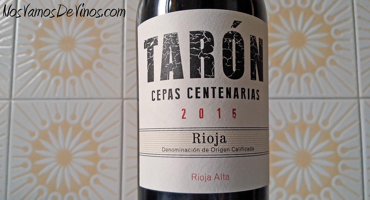 Tarón Cepas Centenarias 2015 Detalle etiqueta