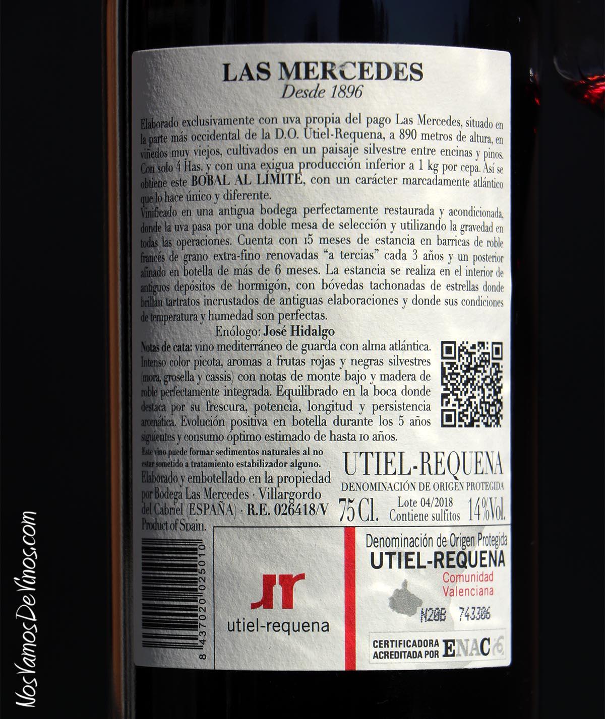 Mercedes del Cabriel Bobal al Límite 2018 Trasera