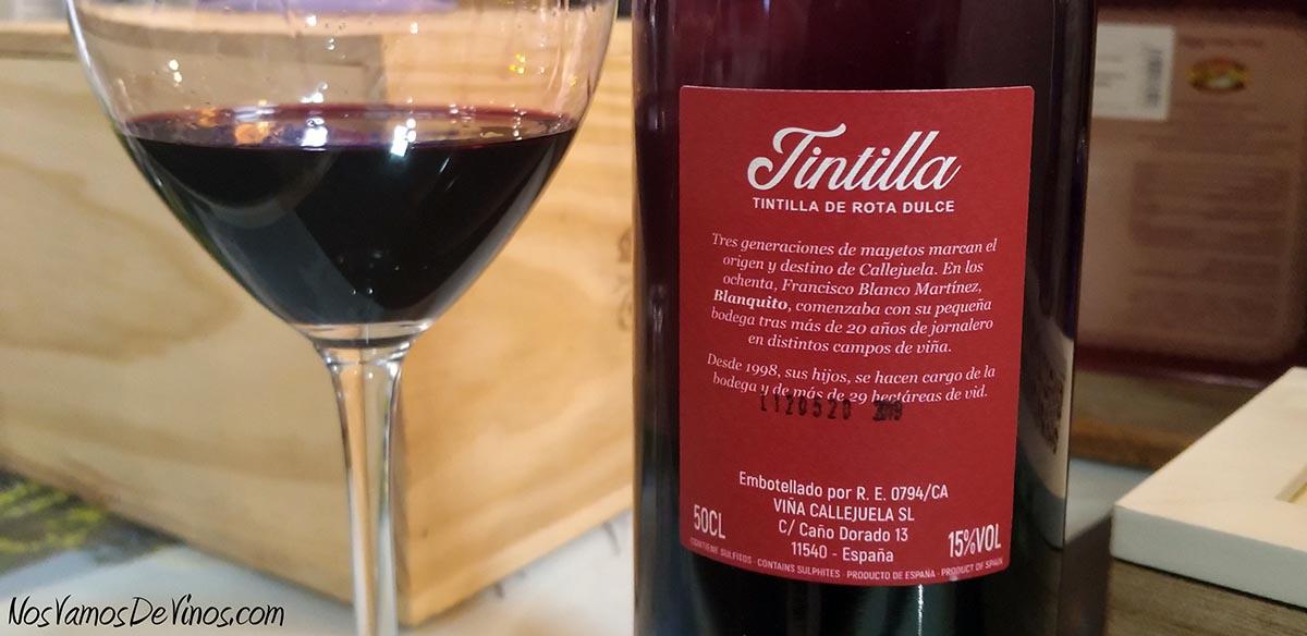 Callejuela Tintilla Trasera