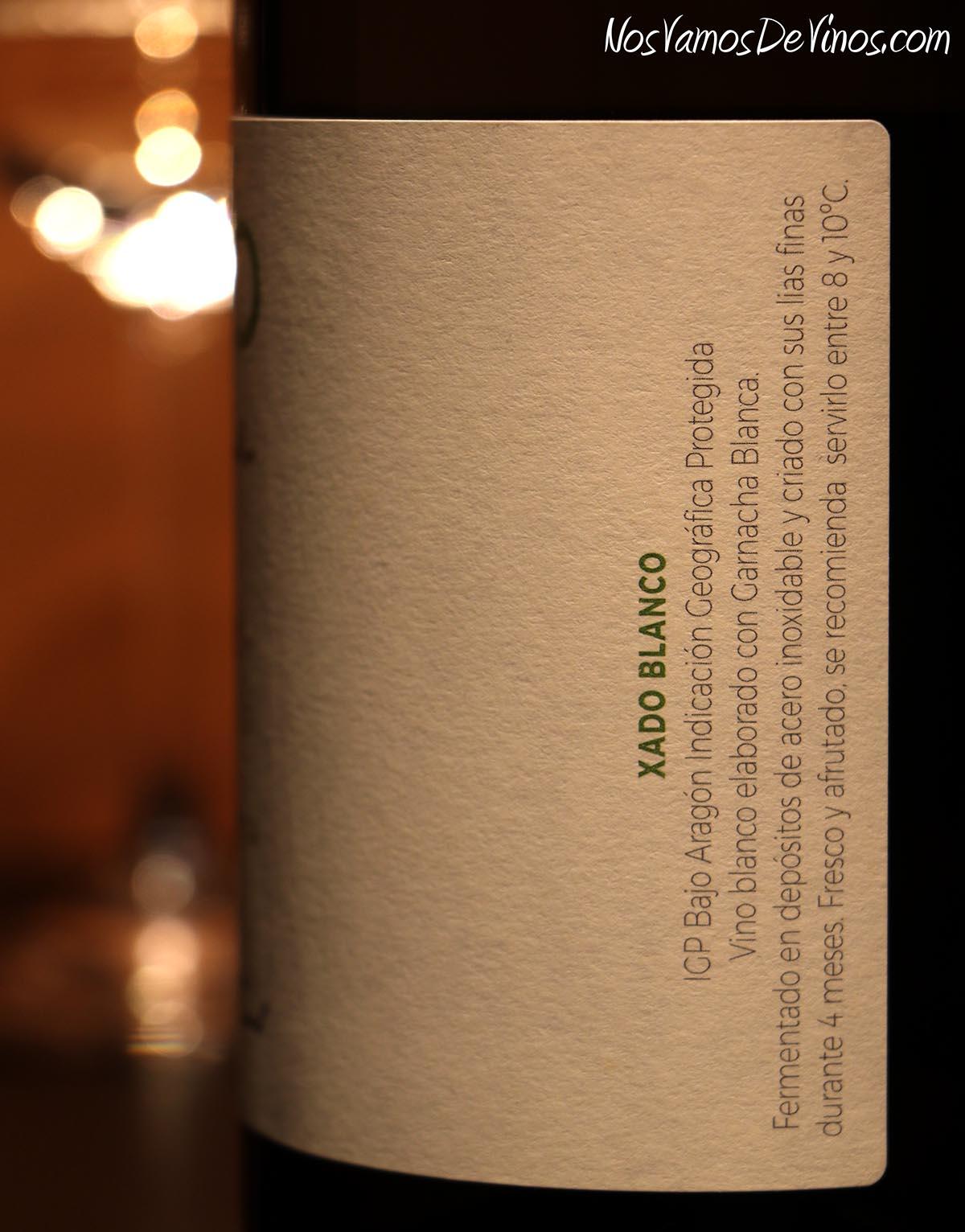 Xado Blanco 2020 Lateral de Etiqueta 2