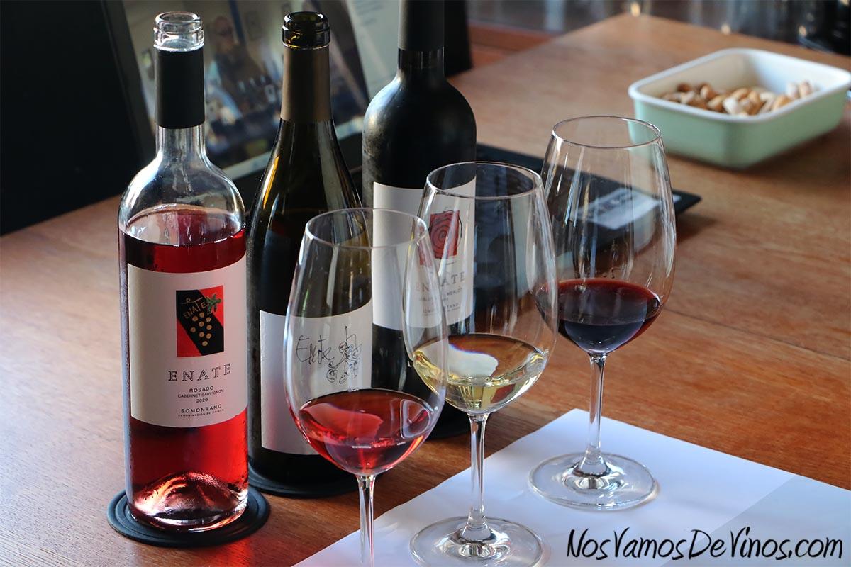 Enate Rosado Cabernet Sauvignon 2020, Chardonnay Fermentado en Barrica 2019 & Merlot-Merlot 2016