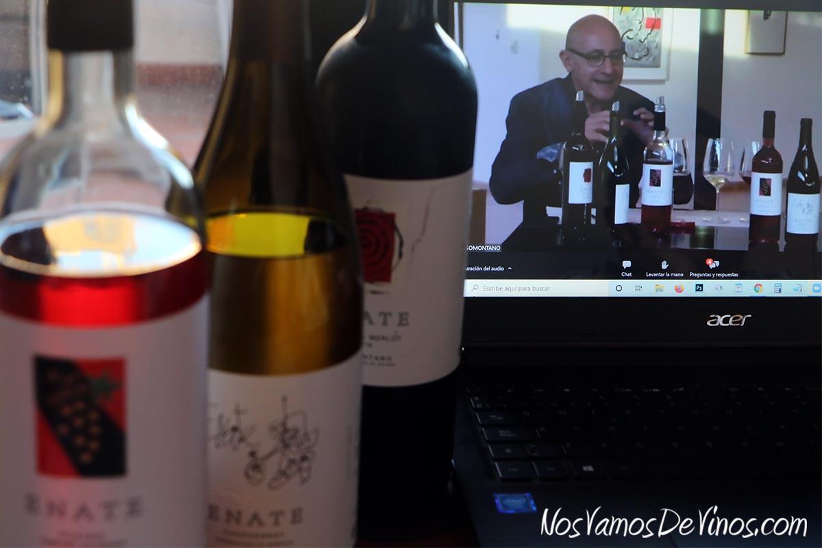 Enate Rosado Cabernet Sauvignon 2020, Chardonnay Fermentado en Barrica 2019 & Merlot-Merlot 2016 Cata Online con Jesús Artajona