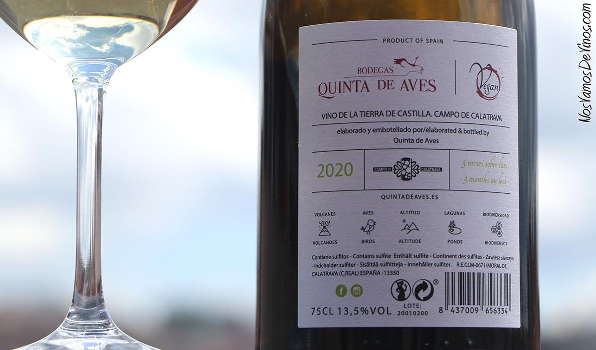 Quinta de Aves Chardonnay 2020 Trasera