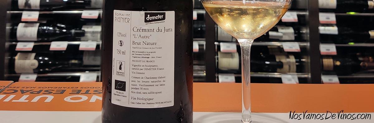 """Domaine Pignier Cremant Du Jura """"L'Autre"""" 2017 Trasera"""