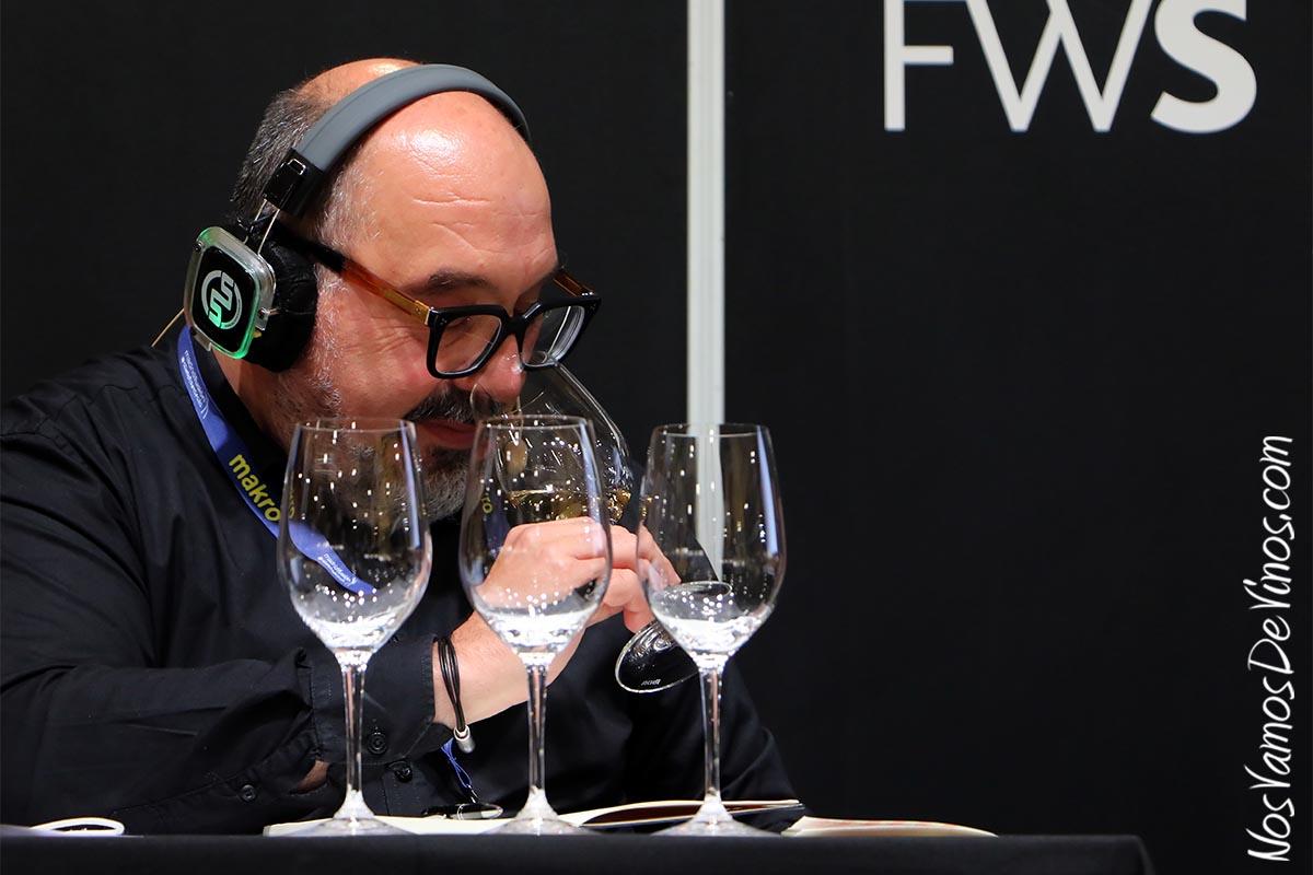 Pablo García-Mancha, director de comunicación de Queirón, en la cata Armonías y Polifonías de Queirón, celebrada en Madrid Fusión 2021 The Wine Edition