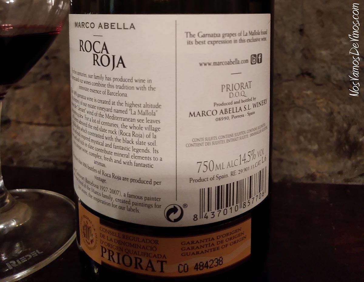 Roca Roja 2016 Trasera