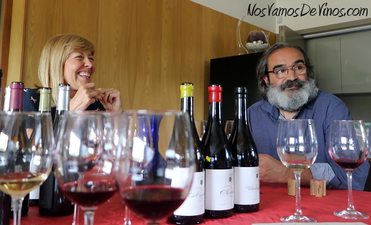 O Cabalín Teresa López y Luis Peique.