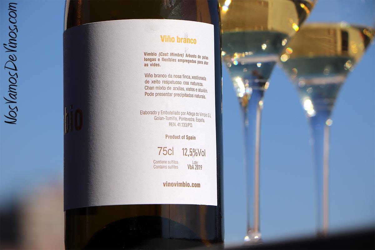 Vimbio A Viño Branco 2019 Lateral Etiqueta