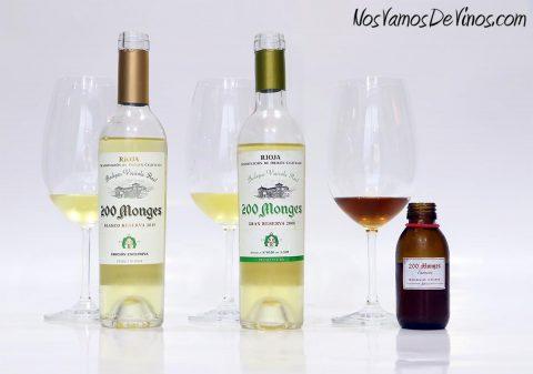 Cata de vinos blancos de guarda de 200 Monges.