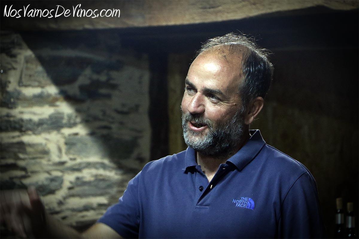 Gerardo Michelini en la bodega Michelini i Mufatto & González