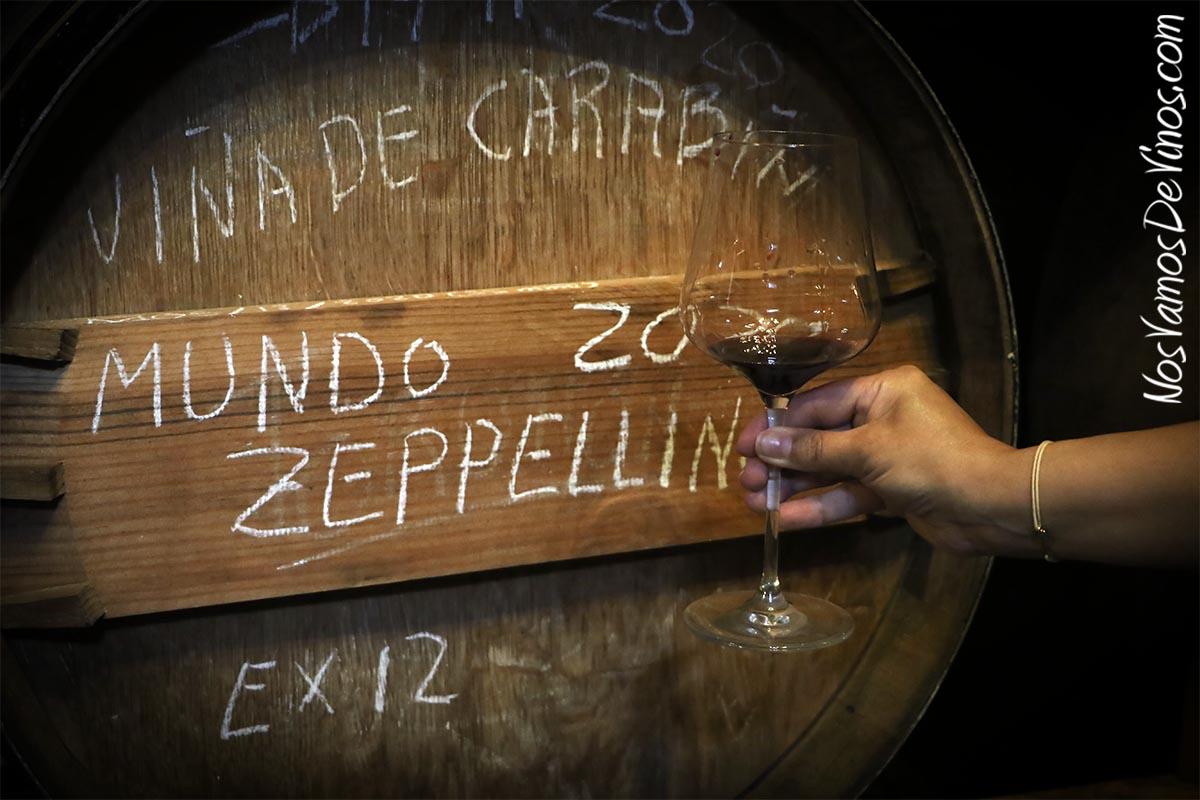 Cata de Mundo Zeppelling 2020 en la bodega Michelini i Mufatto & González